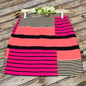 Loft Multicolor Striped Skirt Size 2